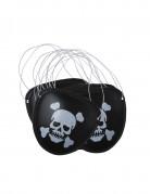 Piraten-Augenklappen Set 6 Stück schwarz