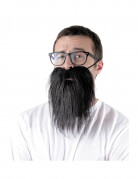 Langer Bart schwarz