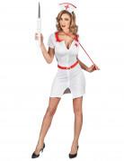 Sexy Damenkostüm Krankenschwester weiß