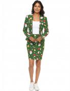 Mrs. Santaboss Weihnachtskostüm für Damen Opposuits™ grün-bunt