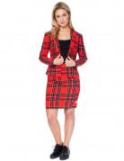 Opposuits™ Kostüm Lumberjackie Damen rot-kariert