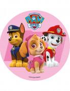 Paw Patrol™ Tortenaufleger Kuchendeko pink