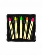 5 Schminkstifte Neonfarben bunt