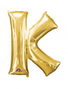 Party Dekoration Deluxe Aluminium Ballon Buchstabe K gold 66x 83 cm