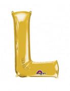 Party Dekoration Deluxe Aluminium Ballon Buchstabe L gold 58x 81 cm