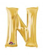 Party Dekoration Deluxe Aluminium Ballon Buchstabe N gold60x 81 cm