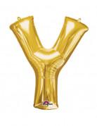 Party Dekoration Deluxe Aluminium Ballon Buchstabe Y gold 76 x 86 cm