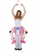 Einhornreitende Ballerina-Kostüm weiss-rosa