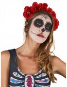 Dia de los Muertos Haarreif mit Rosenblüten Halloween-Accessoire rot