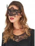 Venezianische Halbmaske Spitze schwarz
