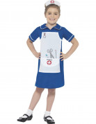 Eifrige Krankenschwester-Kinderkostüm blau