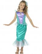 Meerjungfrau Kinderkostüm türkis-violett