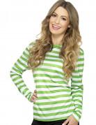 Ringelshirt grün-weiß