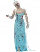Zombie-Prinzessin Halloween-Damenkostüm hellblau