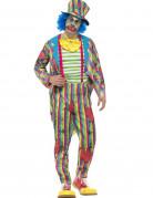Patchwork Clown Herrenkostüm