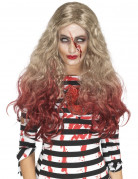 Damenperücke blutig rot-blond