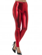Leggings metallic-rot