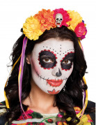 Dia de los Muertos Haarreif mit Blüten für Erwachsene