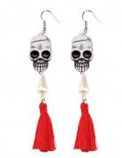Schädel-Ohrringe Dia de los Muertos für Frauen