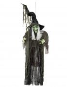 Schaurige Halloween Riesen-Hängedeko Hexe schwarz-grün 190cm
