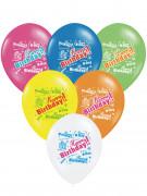 Luftballons Happy Birthday 6 Stück bunt