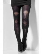 Verblichene Damenstrumpfhose schwarz-transparent