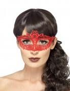 Augenmaske aus Spitze rot