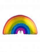 Regenbogen Aluminium-Ballon bunt 60 x 95 cm