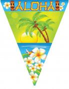 Tropische Wimpel-Girlande Aloha 5m bunt