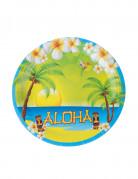 8 Pappteller Aloha 23 cm
