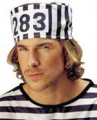 Sträfling-Mütze Gefangener schwarz-weiss