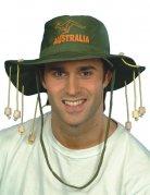 Dschungelhut Safari-Hut mit Hutband grün-orange