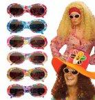 Hippie Brille knallig-bunt