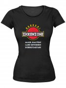 Girlie Shirt Zickenzone Funshirt schwarz-weiss-rot