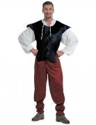 Tavernen Wirt Kostüm Mittelalter rot-weiss-schwarz