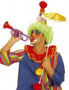 Clown Trompete Kostümzubehör bunt 30cm