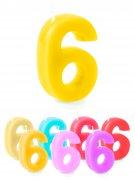 Geburtstagskerze Zahl 6 Kuchen Torte Kerze Kinder Geburtstag Nummer Deko Zahlen
