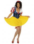 Süsse Märchenprinzessin Damenkostüm gelb-blau-rot