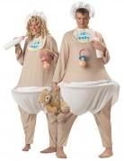 Baby Fatsuit Kostüm Deluxe haut-weiss