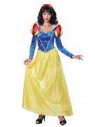 Zauberhafte Märchenprinzessin Damenkostüm gelb-blau-rot