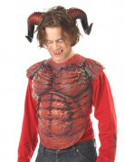 Gebogene Teufelshörner Dämonen-Hörner rot