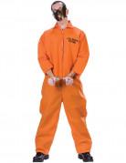 Psychopath-Herrenkostüm Sträfling Halloween-Kostüm orange