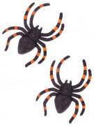 Halloween Deko Spinnen 2 Stück schwarz-orange 13cm