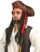 Piratenhut für Kinder mit Totenkopf braun
