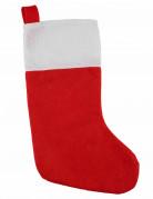 Weihnachtsstrumpf Geschenktasche rot-weiss 37cm