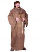 Mittelalterlicher Mönch mit Perücke braun