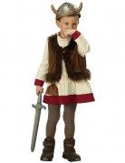 Wikinger Kinder-Kostüm braun-beige-rot