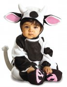 Kuh Baby-Kostüm Strampler schwarz-weiss-rosa