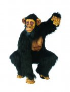 Schimpanse Jumpsuit-Kostüm Affe schwarz-braun