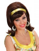 60er Jahre Damen-Perücke toupiert braun